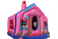 Pink House Bouncy 4x4M