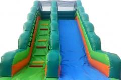 Green Blue Water Slider 8x4x6M