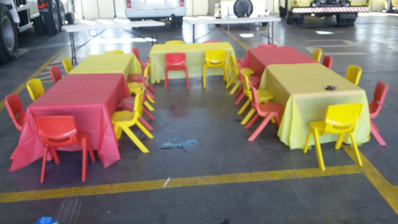 tables and chairs for events